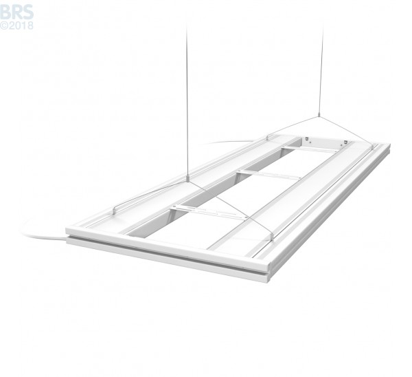 """48"""" Hybrid T5HO 4x24W Fixture with LED Mounting System White - Aquatic Life"""