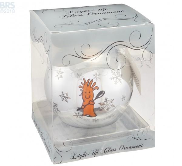 BRS Light-Up Glass Ornament