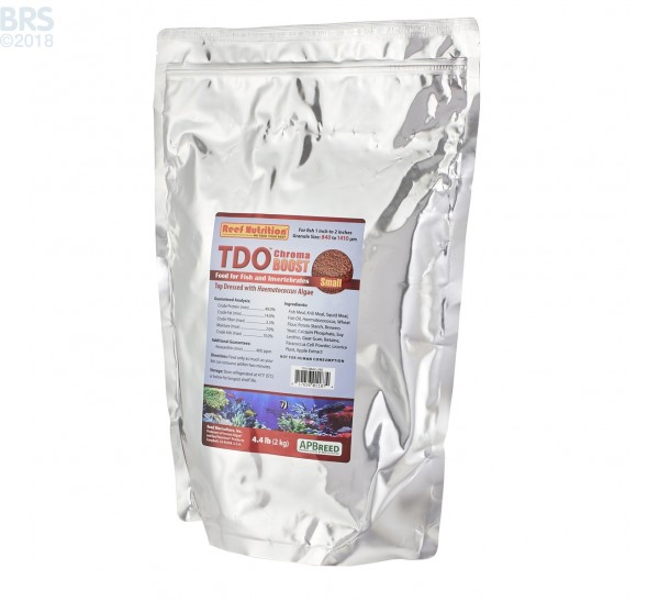 TDO Chroma BOOST Small Granule Fish Food - Reef Nutrition