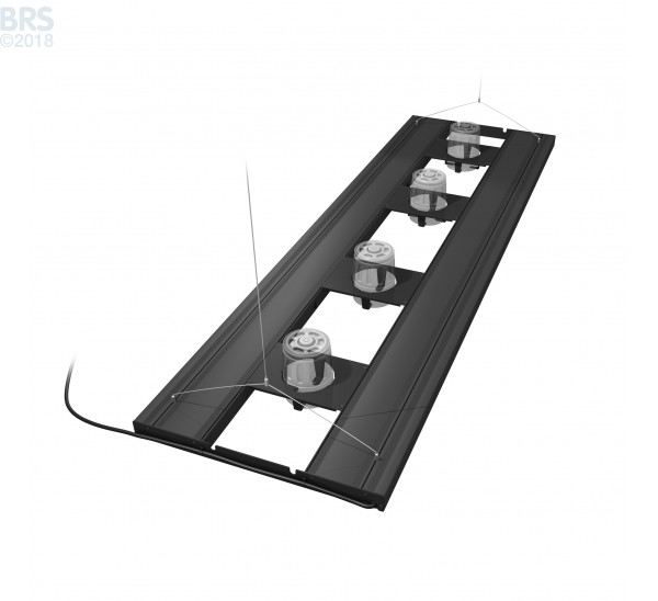 """60"""" Hybrid T5HO 4x39W Fixture with LED Mounting System - Aquatic Life Kessil Mounts"""