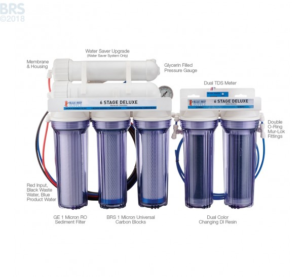 6 Stage Deluxe Plus RO/DI System - Bulk Reef Supply