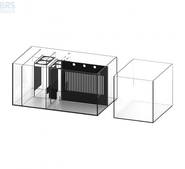7226 Crystal Peninsula System with White Cabinet (169 Gallon) - Waterbox