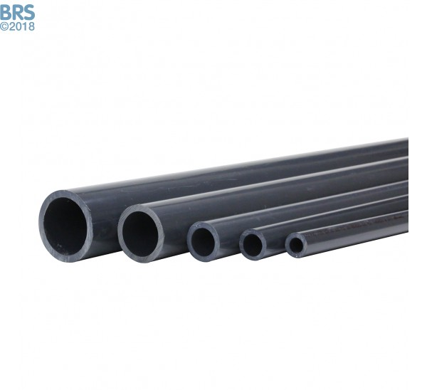 5 Sizes of Schedule 80 Pipe - Sold in 5 Ft Sections