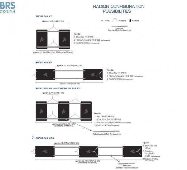 EcoTech Radion XR30W Short Rail Kit