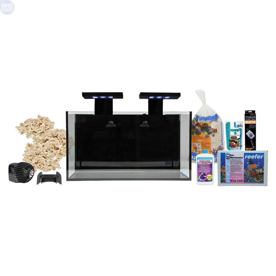 Nuvo fusion 20 gallon saltwater aquarium kit with skkye for 20 gallon fish tank kit