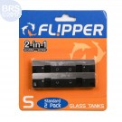 Stainless Steel Replacement Blades for Glass Tanks (2 Pack) - Flipper