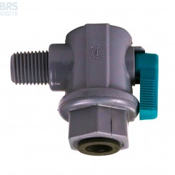 RO Elbow Ball Valve - NPT x Push Connect