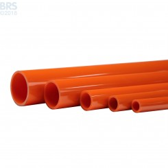 Orange Schedule 40 Pipe (46 Inch)