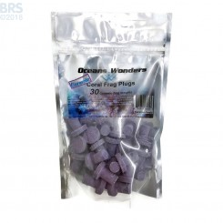 Coralline Purple Ceramic Coral Frag Plugs - Oceans Wonders