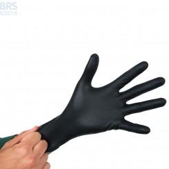 Black Diamond Textured Nitrile Black Fragging Gloves
