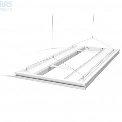 """36"""" Hybrid T5HO 4x24W Fixture with LED Mounting System - White"""