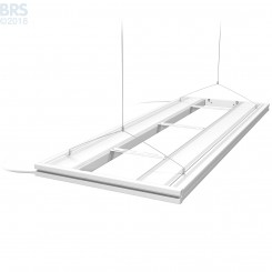 """48"""" Hybrid T5HO 4x24W Fixture with LED Mounting System - White"""