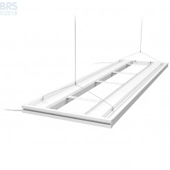 """61"""" Hybrid T5HO 4x24W Fixture with LED Mounting System - White"""