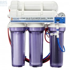 4 Stage Value Plus 150GPD Water Saver RO/DI System