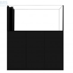 6026 Crystal Peninsula System with Black Cabinet (141 Gallon)