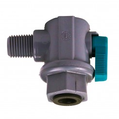"1/4"" NPT x 1/4"" Push Connect Elbow Ball Valve"
