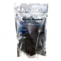Hawaiian Black Ceramic Coral Frag Plugs