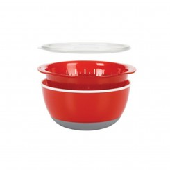 Coral Dipping Bowl with Strainer and Lid - OXO Good Grips