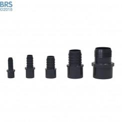Gray Pipe Adapter Spigot x Barb
