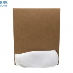 """Case (50) 4"""" x 14"""" BRS Felt Filter Sock with Plastic Ring"""