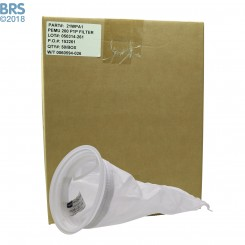 """Case (50) 7"""" x 16"""" BRS Mesh Filter Sock with Plastic Ring"""