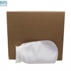 """Case (50) 7"""" x 16"""" BRS Felt Filter Sock with Plastic Ring"""