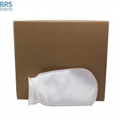 """Case (100) 4"""" x 8"""" BRS Felt Filter Sock with Plastic Ring"""