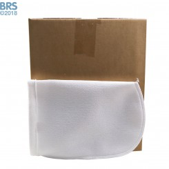 """Case (100) 7"""" x 16"""" BRS Felt Filter Sock with Draw String"""