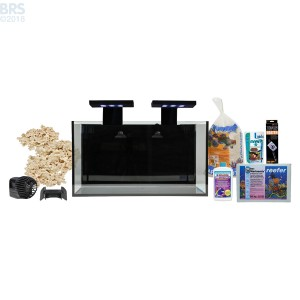 Nuvo Fusion 20 Gallon Saltwater AIO Aquarium Kit with SKKYE LED