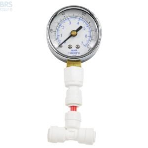 Air Filled Pressure Gauge 1-100 PSI - Bulk Reef Supply