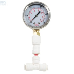 Glycerin Filled Pressure Gauge 1-100 PSI - Bulk Reef Supply