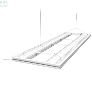 "60"" Hybrid T5HO 4x24W Fixture with LED Mounting System White - Aquatic Life"