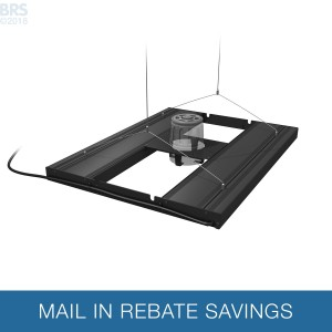 """24"""" Hybrid T5HO 4x24W Fixture with LED Mounting System - Aquatic Life"""