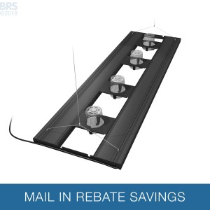 """61"""" Hybrid T5HO 4x80W Fixture with LED Mounting System - Aquatic Life"""
