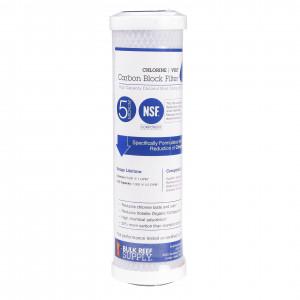BRS Chlorine & VOC Carbon Block Filter - 5 Micron (RO/DI)