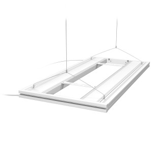"36"" Hybrid T5HO 4x24W Fixture with LED Mounting System White - Aquatic Life"