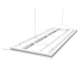 "48"" Hybrid T5HO 4x24W Fixture with LED Mounting System White - Aquatic Life"