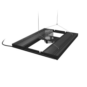 "24"" Hybrid T5HO 4x24W Fixture with LED Mounting System - Black - Aquatic Life"