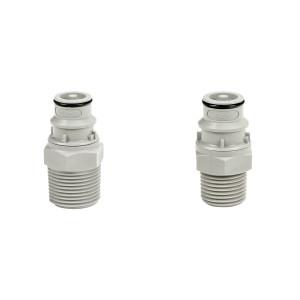 Male Thread X Push-Lock Adapter - Colder