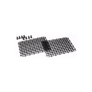 AUQA Gadget - SnappGrid Eggcrate - (2) 10in x 7in + (8) Stackable Risers (Black)