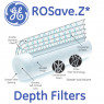Case (40) of GE ROSAVE.Z Depth Filters - 5 Micron (RO/DI) Specs 1