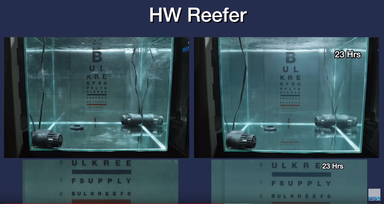 Saltwater Clarity Chart HW Reefer
