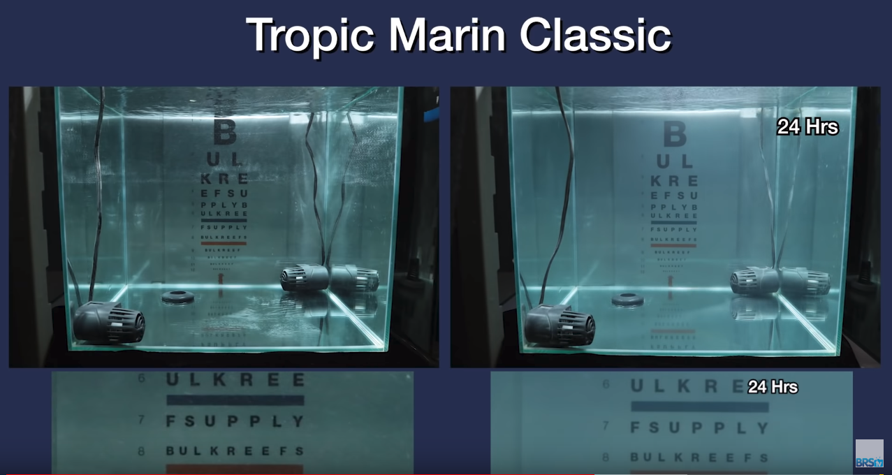 Saltwater Clarity Chart Tropic Marine Classic