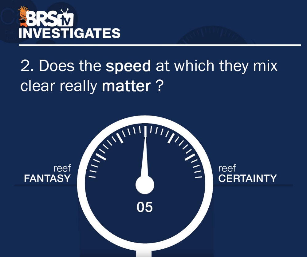 Does Saltwater Mixing Speed Matter