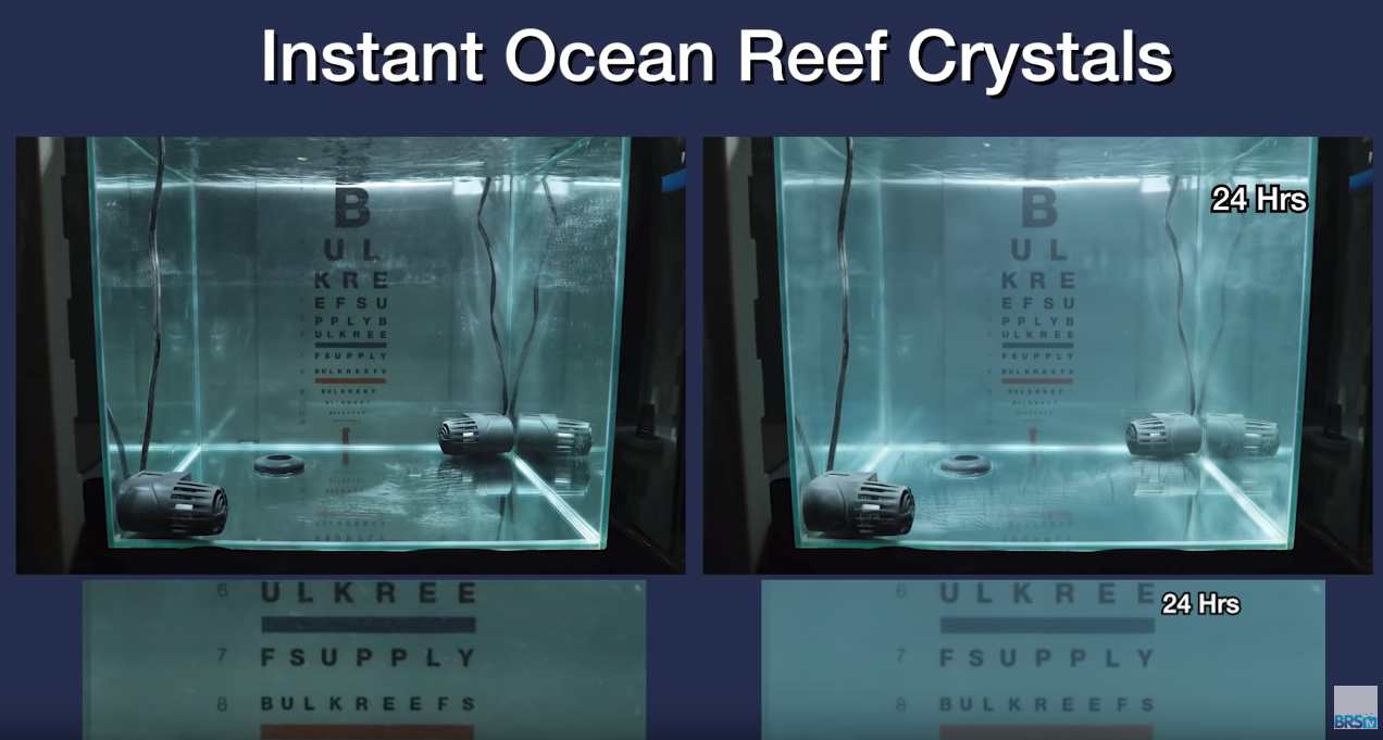 Saltwater Clarity Chart Reef Crystals