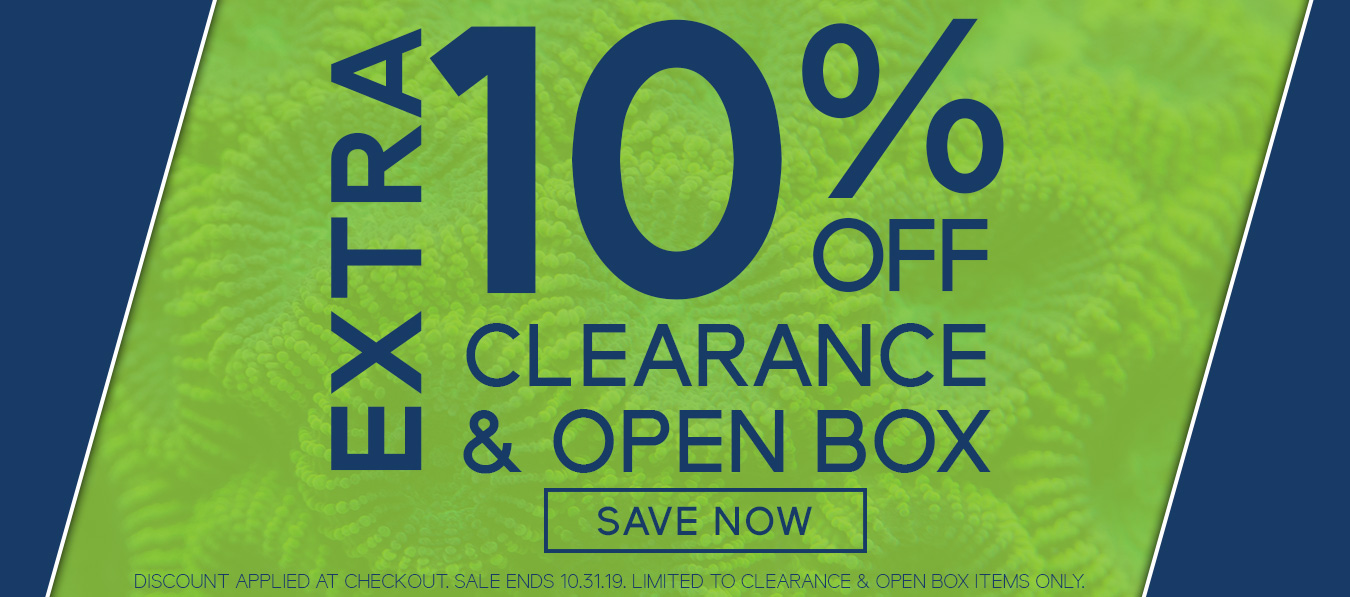 Extra 10% off Clearance and Open Box