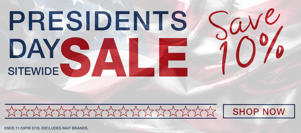 Presidents Day Sale - 10% off Sitewide