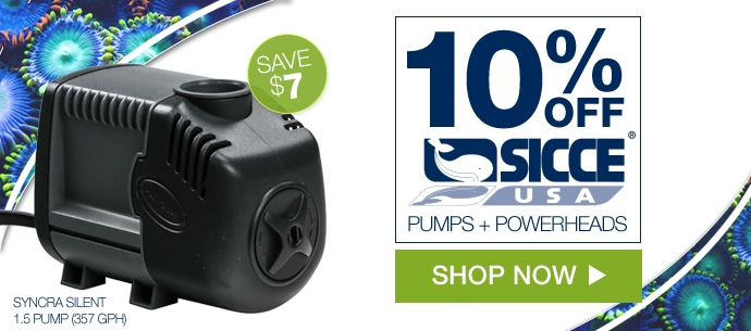 Save 10 Percent On Sicce Pumps