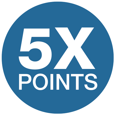 Earn 5x Points