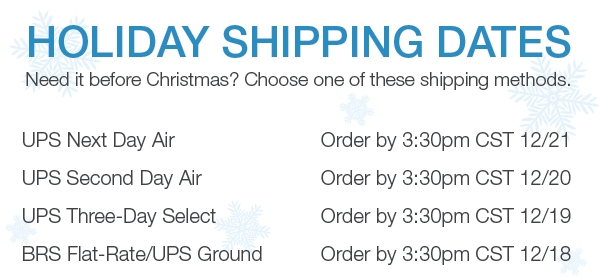 Get it before Christmas Shipping Dates